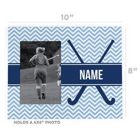 Field Hockey Photo Frame - Field Hockey Sticks with Chevron Pattern