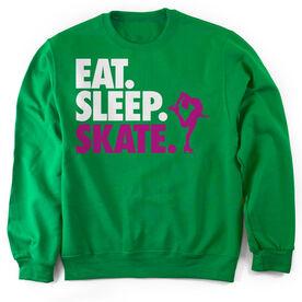 Figure Skating Crew Neck Sweatshirt Eat. Sleep. Skate.