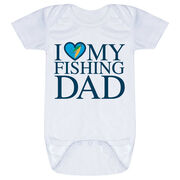 Fly Fishing Baby One-Piece - I Love My Fly Fishing Dad