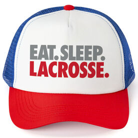Lacrosse Trucker Hat - Eat Sleep Lacrosse