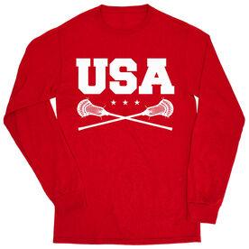 Guys Lacrosse Tshirt Long Sleeve - USA Lacrosse