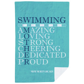 Swimming Premium Blanket - Mother Words