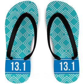 Running Flip Flops Diamond Pattern With Ribbon 13.1