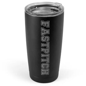 Softball 20 oz. Double Insulated Tumbler - Fastpitch