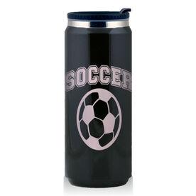 Stainless Steel Travel Mug Soccer Ball