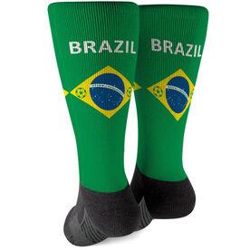 Soccer Printed Mid-Calf Socks - Brazil