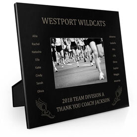 Track & Field Engraved Picture Frame - Team Name With Roster