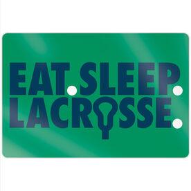 """Guys Lacrosse 18"""" X 12"""" Aluminum Room Sign - Eat Sleep Lacrosse"""