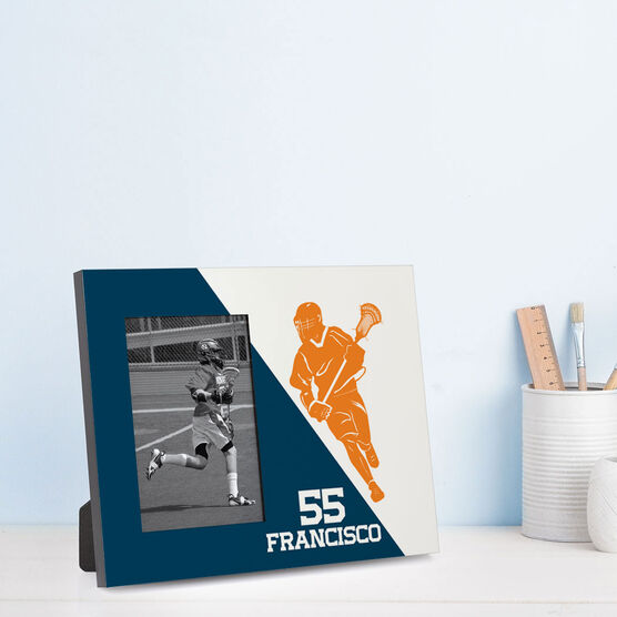 Guys Lacrosse Photo Frame - Personalized Lacrosse Player