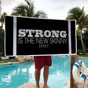 Cross Training Premium Beach Towel - Strong Is The New Skinny