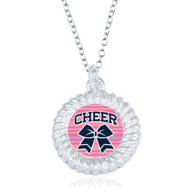 Cheerleading Braided Necklace - Cheer Bow