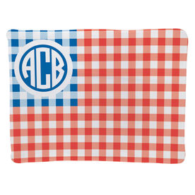 Personalized Baby Blanket - USA Gingham