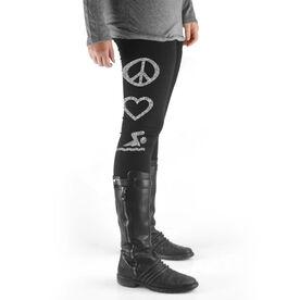 Swim High Print Leggings Peace Love Swim