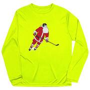 Hockey Long Sleeve Performance Tee - Slap Shot Santa