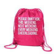 Cheerleading Sport Pack Cinch Sack - All Weekend Cheerleading