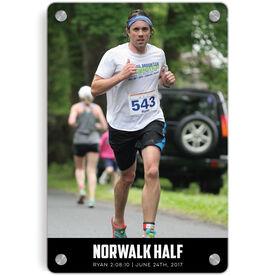 Running Metal Wall Art Panel - Custom Photo With Text Portrait