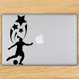 Spirit Soccer Girl Removable ChalkTalkGraphix Laptop Decal
