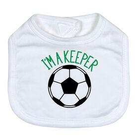 Soccer Baby Bib - I'm A Keeper