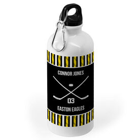 Hockey 20 oz. Stainless Steel Water Bottle - Team with Crossed Sticks
