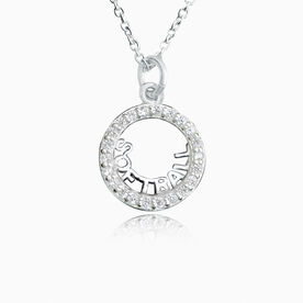 Livia Collection Sterling Silver and Cubic Zirconia Softball Adjustable Necklace
