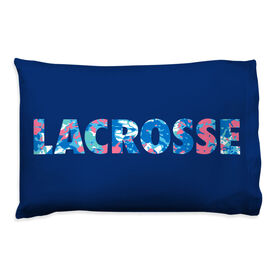 Girls Lacrosse Pillowcase - Floral
