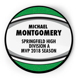 Rugby Circle Plaque - Ball With Text