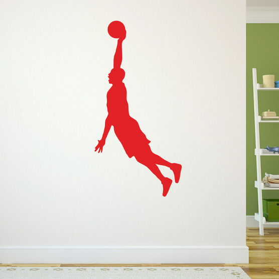 Hang Time Basketball Removable ChalkTalkGraphix Wall Decal