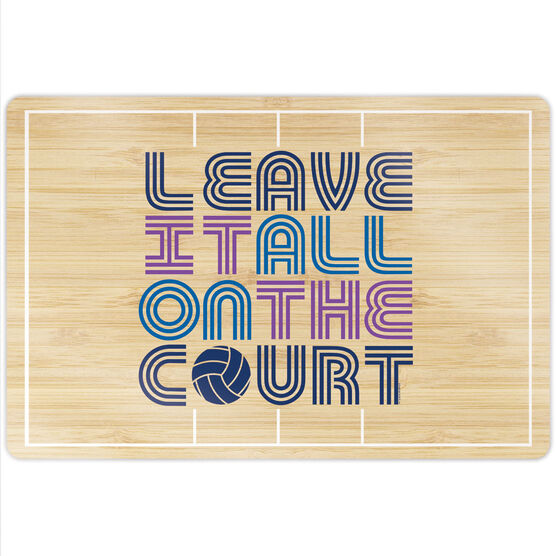 """Volleyball 18"""" X 12"""" Aluminum Room Sign - Leave It All On The Court"""