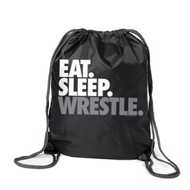 Wrestling Sport Pack Cinch Sack Eat Sleep Wrestle (Stack)