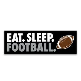 "Football 12.5"" X 4"" Removable Wall Tile - Eat Sleep Football"
