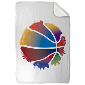 Basketball Sherpa Fleece Blanket I'm Everywhere