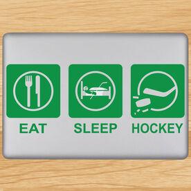 Eat Sleep Hockey Removable ChalkTalkGraphix Laptop Decal