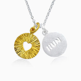Livia Collection Sterling Silver and 14K Gold Vermeil Run Triumph Necklace