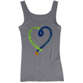 Field Hockey Women's Athletic Tank Top Live Love Play