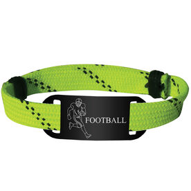 Football Lace Bracelet Player with Football Adjustable Sport Lace Bracelet