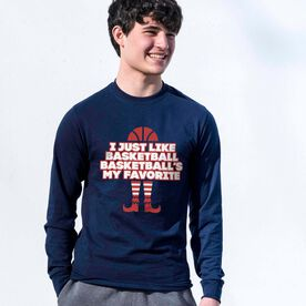 Basketball Tshirt Long Sleeve - Basketball's My Favorite