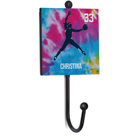 Softball Medal Hook - Pitcher With Name And Number