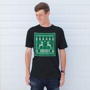 Hockey Short Sleeve Tee - Hockey Christmas Knit