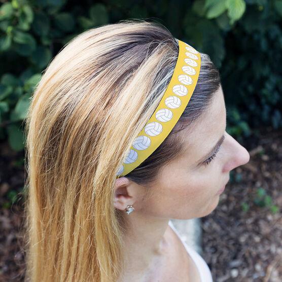 Volleyball Julibands No-Slip Headbands - Volleyball Stripe Pattern