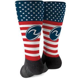 Rugby Printed Mid-Calf Socks - USA Stars and Stripes