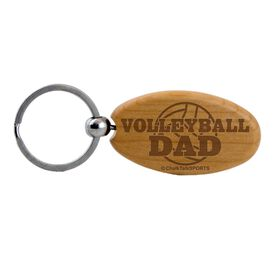Volleyball Dad Maple Key Chain