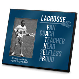 Lacrosse Personalized Photo Frame Lacrosse Father Words