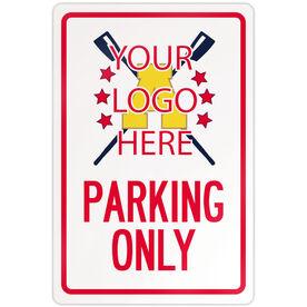 "Crew 18"" X 12"" Aluminum Room Sign Custom Crew Logo Parking Only"