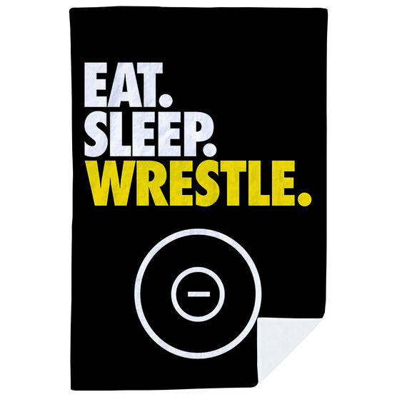Wrestling Premium Blanket - Eat. Sleep. Wrestle. Vertical