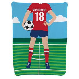 Soccer Baby Blanket - Female Soccer Player