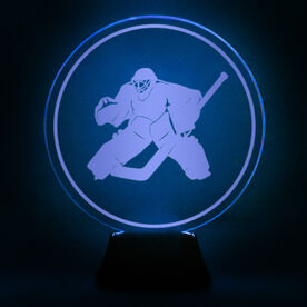 Hockey Acrylic LED Lamp Round Goalie
