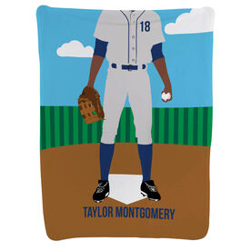 Baseball Baby Blanket - Baseball Player