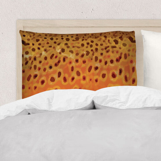 Fly Fishing Pillowcase - Brown Trout