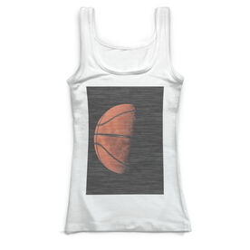 Basketball Vintage Fitted Tank Top - Up In The Sky