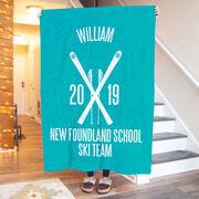 Skiing Premium Blanket - Personalized Team